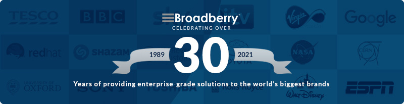 Broadberry Celebrating Over 30 Years.