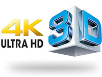4K Ultra HD and 3D Logo