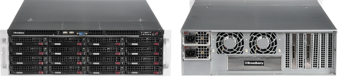 Broadberry Storage Server Front and Back