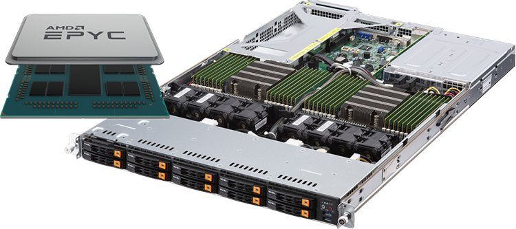 AMD EPYC Processor - Dual Socket Series 1U Rackmount Server