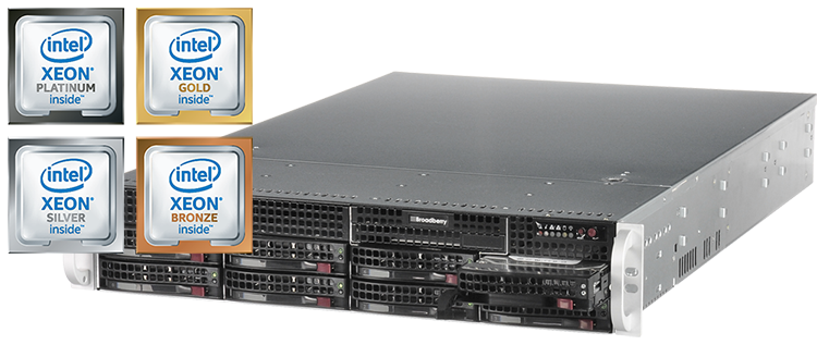 Broadberry server powered by Intel Xeon Scalable processors