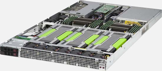 Ultra High-Density GPU Computing 1U Supercomputer, 4x Tesla